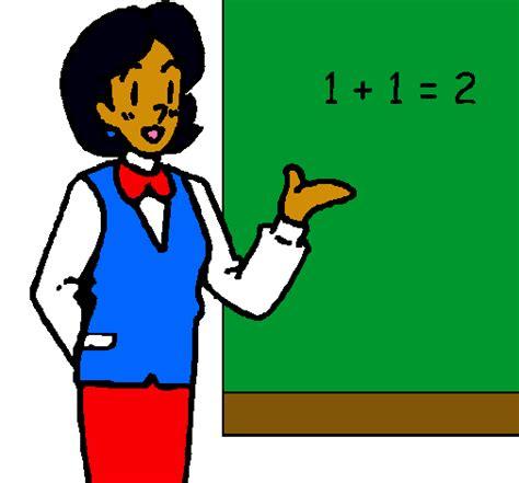 imagenes relacionado con matematicas dibujo de maestra de matem 225 ticas pintado por cayri en