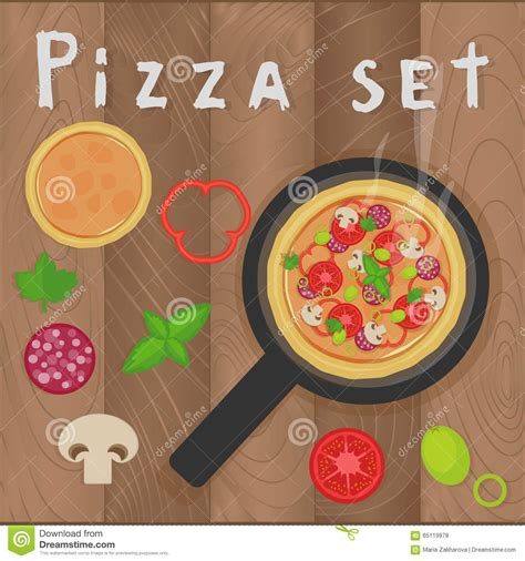 design love fest potato pizza vector vegetables background in flat style cartoon vector