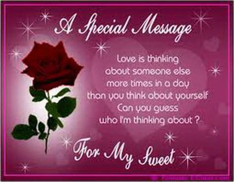 a special message for you my sweet heart