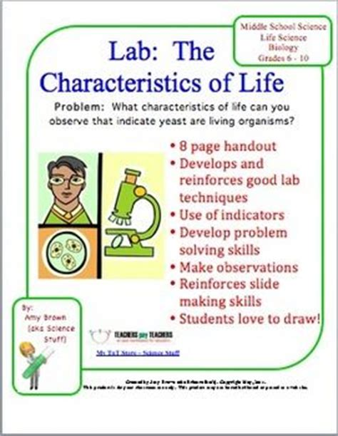 characteristics about biography biology lab characteristics of life