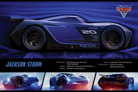 film cu cars 3 cars 3 jackson storm stats poster sold at europosters