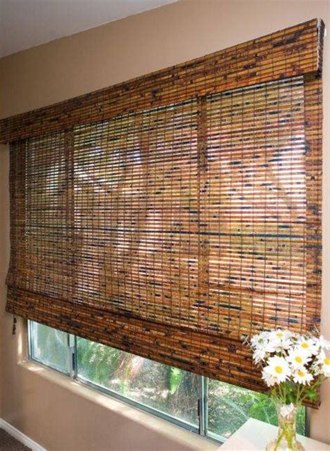 Woven Wood Shades Budget Woven Wood Shades In Jamaica Walnut Tropical