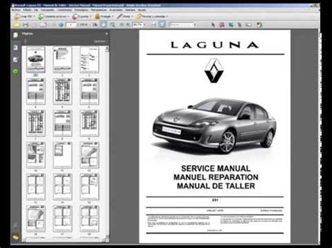 renault laguna iii manual de taller service manual manuel reparation youtube