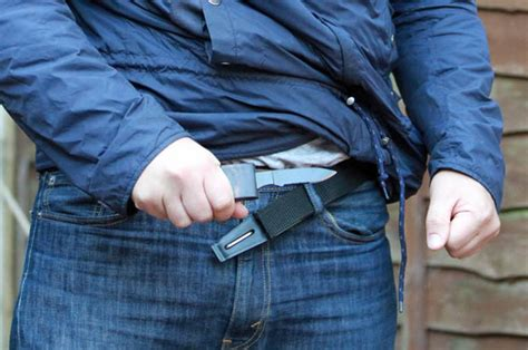 disguised knives a belt buckle which conceals a knife is the new must