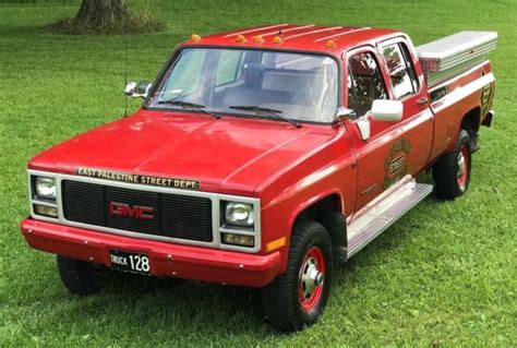 old car manuals online 1993 gmc 3500 navigation system 1989 gmc 3500 454 4x4 4spd crew cab only 14 186 miles fire truck 1 ton pickup