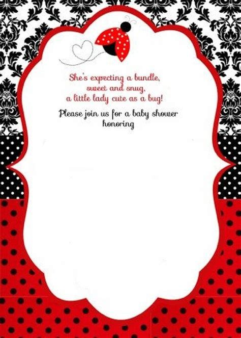 Ladybug Invitation Template Invitation Template Free Printable Ladybug Baby Shower Invitations Templates