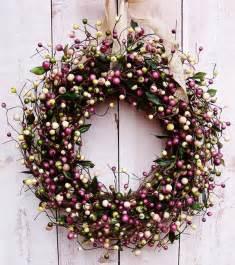 Spring Wreaths For Front Door Spring Wreaths Rustic Lavender Berry Door Wreath Spring
