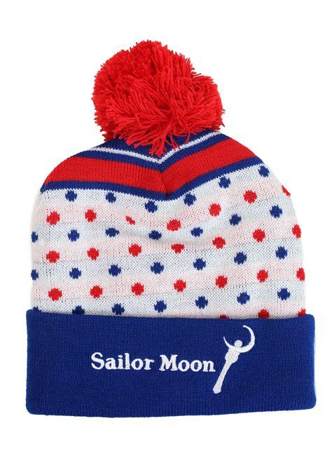 sailor knit cap sailor moon knit hat with pompom