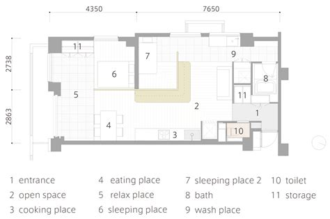 japanese home floor plan two apartments in modern minimalist japanese style