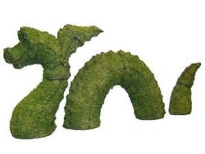 Garden Topiary Frames - dragon nessie garden topiary mossed frame