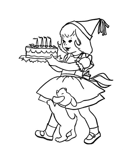 happy birthday coloring pages games birthday party coloring pages coloring home
