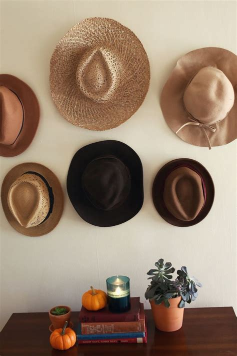 Dining Room Wall Ideas try this hats in place of art a beautiful mess