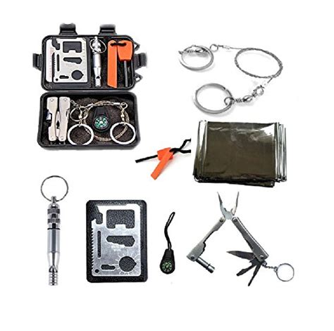 Emergency Gear Outdoor Survival Cing Hiking 8 In 1 Keychain Multi T survival kit outdoor emergency gear kit for cing hiking adventure or travel 8 in 1 cing