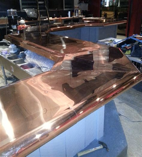 commercial bar top designs copper metal design sunset metal fab inc