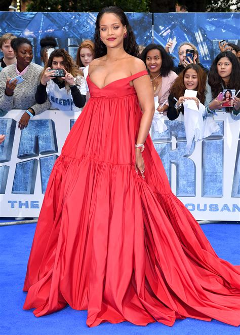 rihanna s valerian red carpet and after party