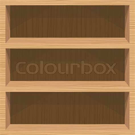 Wood Book Shelf by Wooden Book Shelf Stock Vector Colourbox