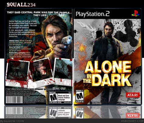 alone in the dark playstation 2 box art cover by squall234