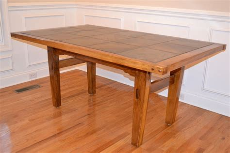 Handmade Dining Room Table - handmade cypress dining table with tile top by
