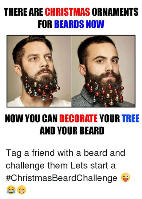You Can Now Decorate Your Hipster Beard For Christmas | there are christmas ornaments for beards now now you can