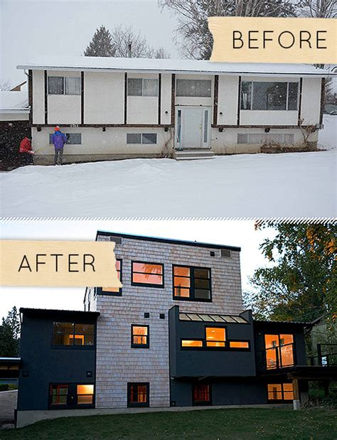 home remodel before and after bi level home remodel studio design gallery best