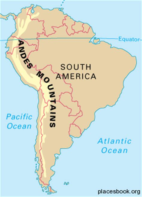 south america map andes andes mountains all places and travel tourism directory