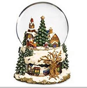 rotating train snow globe the san francisco box company tree with rotating musical snow
