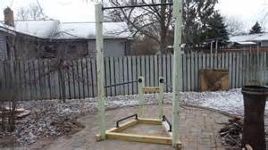 Build A Backyard Pull Up Bar How To Build A Simple Backyard Bodyweight Gym Youtube