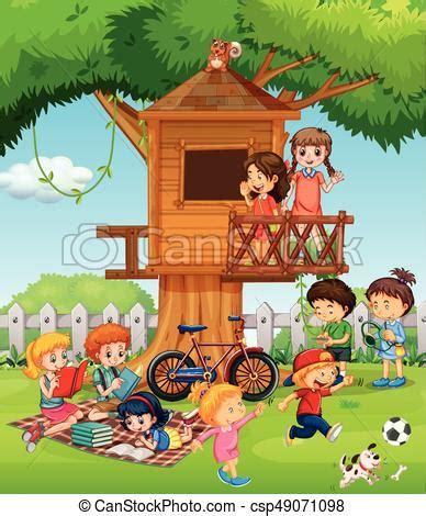 Jouer Dans Le Jardin by Jouer Enfants Jardin Enfants Jardin Illustration