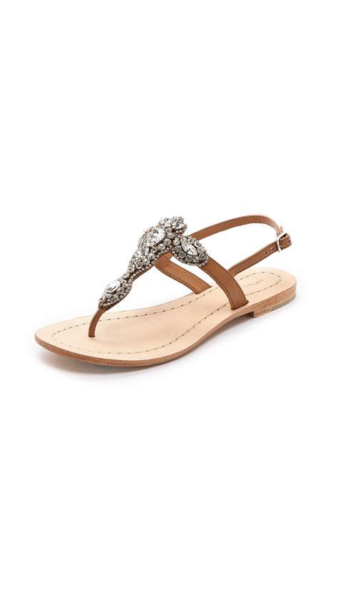 jeweled sandals antik batik aki jeweled sandals in brown lyst