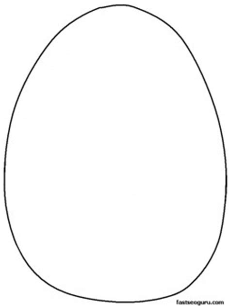 blank egg coloring page easter egg printables
