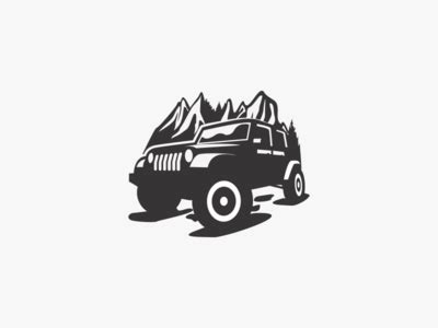 mountain jeep logo jeep by garagephic dribbble