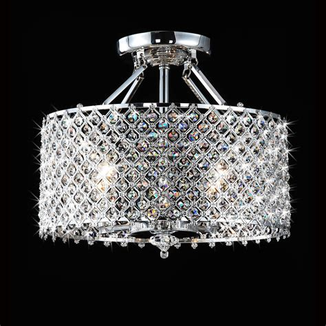 Overstock Lighting Fixtures Chrome 4 Light Ceiling From Overstock