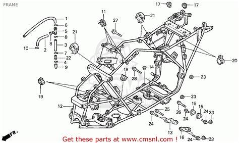 honda fourtrax 300 parts diagram honda trx300 fourtrax 300 1998 w usa frame schematic