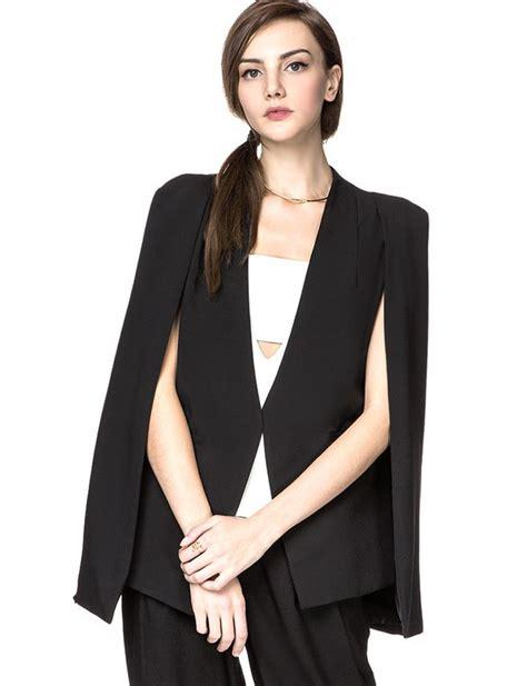 19664 Black Cape Blazer Coat jacket cape blazer cape black tuxedo blazer black