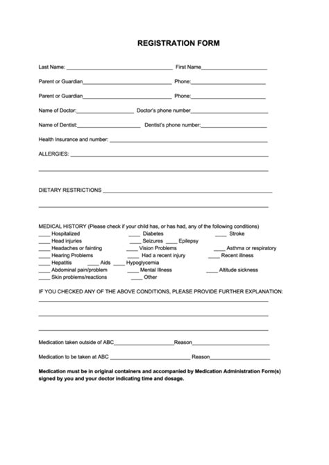 60 Sports Registration Form Templates Free To Download In Pdf Softball Registration Form Template