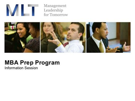 Programs To Help Prepare For Mba mlt mba prep 2008 presentation