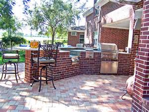 Brick Kitchen Ideas by Outdoor Kitchens Using Concrete And Brick Two Common