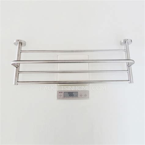 Brushed Nickel Bathroom Shelves Contemporary Stainless Steel Bathroom Shelves Towel Bars Brushed Nickel