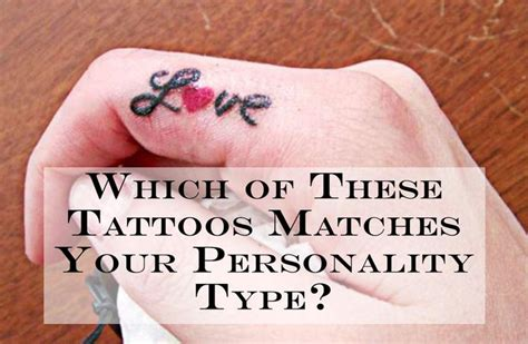 tattoo describes my personality quiz which of these tattoos matches your personality type did