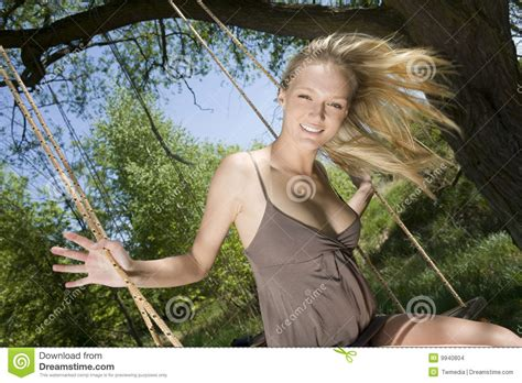 girl on the swing girl on the swing stock images image 9940804