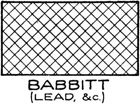 Mechanical Drawing Cross Hatching Of Babbitt Clipart Etc
