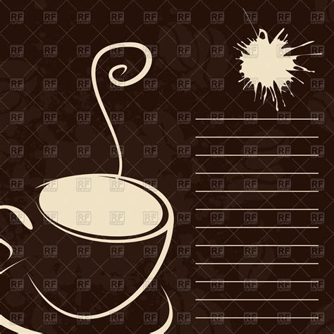 Menu template with coffee cup Vector Image #79440 ? RFclipart