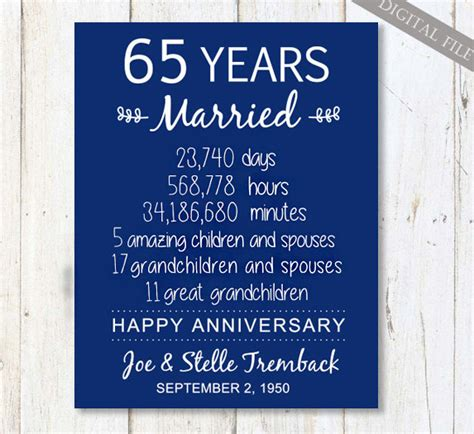 65th Wedding Anniversary Card Verses by 65th Wedding Anniversary Gift For Parents 65 Years Wedding