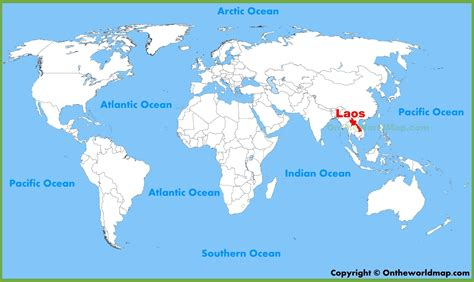 laos on the world map laos location on the world map