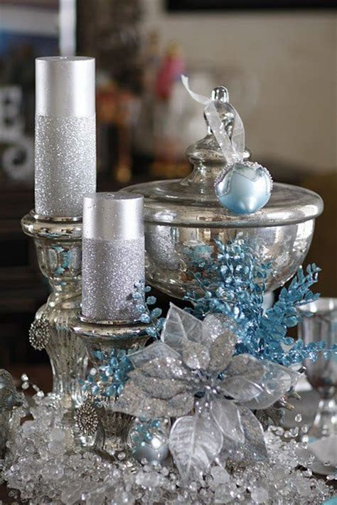 silver and blue table decorations 35 silver and blue d 233 cor ideas for and new year