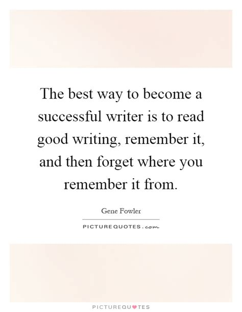 the best way to become a successful writer is to read