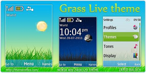 themes com nth grass live theme for nokia x2 240 215 320 themereflex