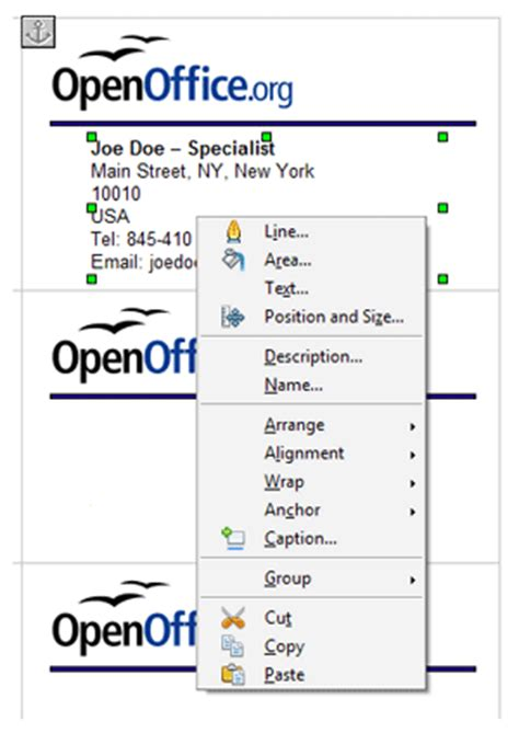 openoffice business card template how to synchronize business cards in openoffice org template