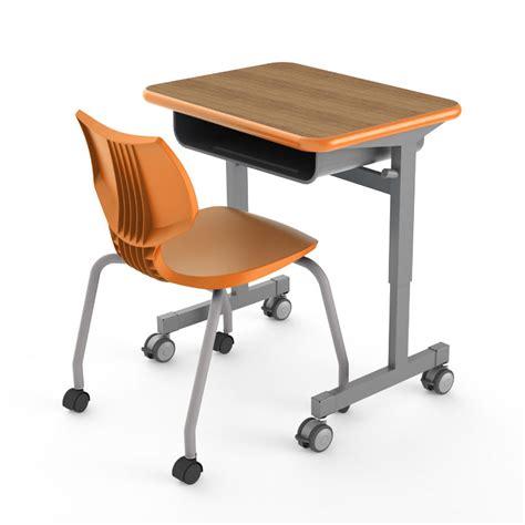 green student desk single student desk silhouette desks smith system