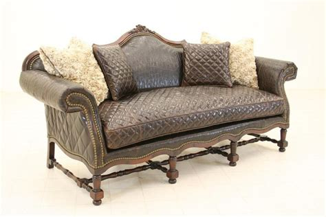 Tooled Leather Sofa West Tooled Leather Sofa Luxury Furniture